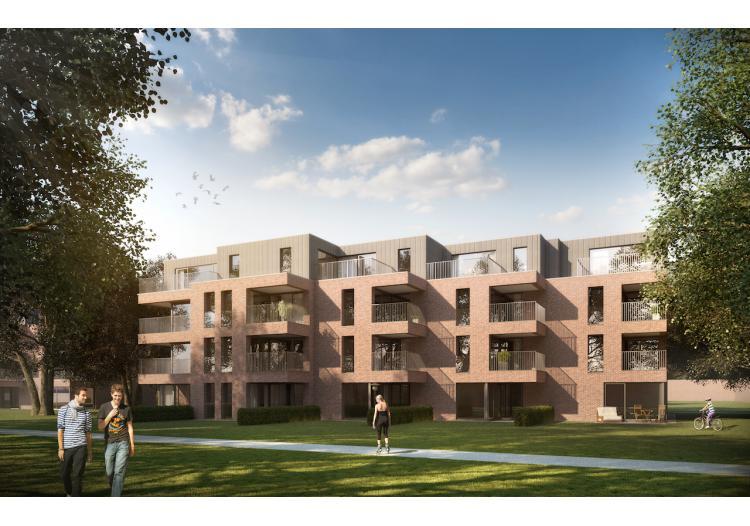 Vastgoed Unicum -     Eeklo, Appartement             - Nieuwbouwappartement op het 3e verdiep met 2 slpk - VERKOCHT !